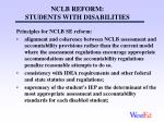 nclb reform students with disabilities