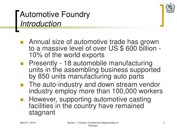 Automotive foundry introduction