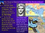 the goat is greece alexander the broken horn daniel 8 21 22