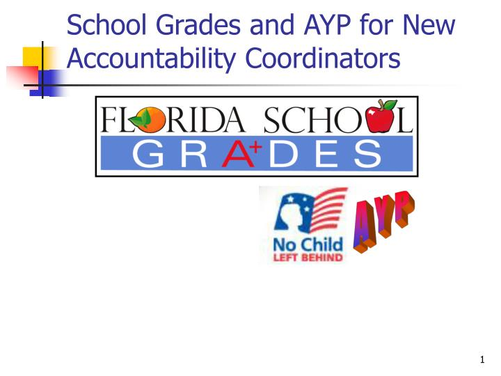 school grades and ayp for new accountability coordinators n.