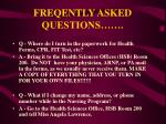 freqently asked questions24
