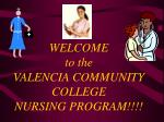 welcome to the valencia community college nursing program