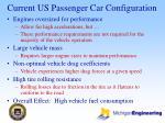 current us passenger car configuration