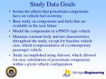 study data goals