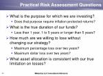 practical risk assessment questions