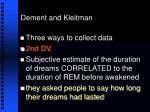 dement and kleitman19