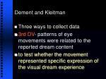dement and kleitman20