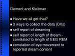 dement and kleitman22