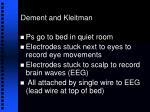 dement and kleitman24