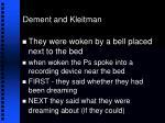 dement and kleitman26