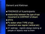 dement and kleitman35