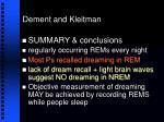 dement and kleitman39