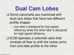 dual cam lobes