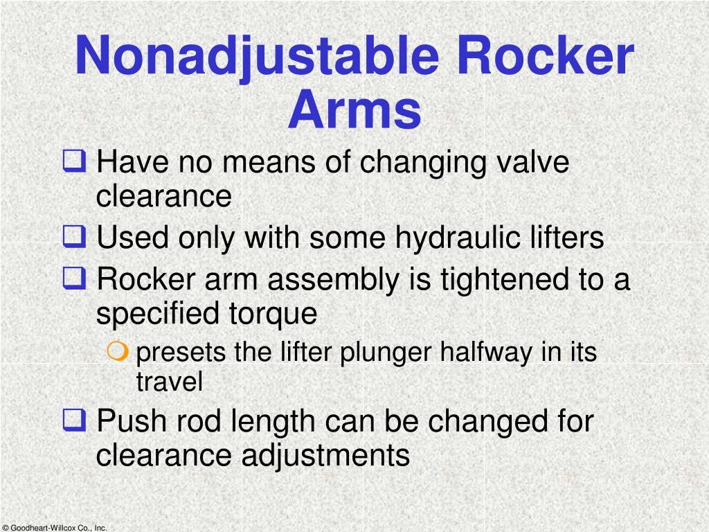 Nonadjustable Rocker Arms