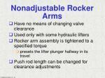 nonadjustable rocker arms