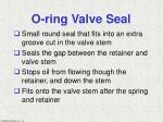 o ring valve seal