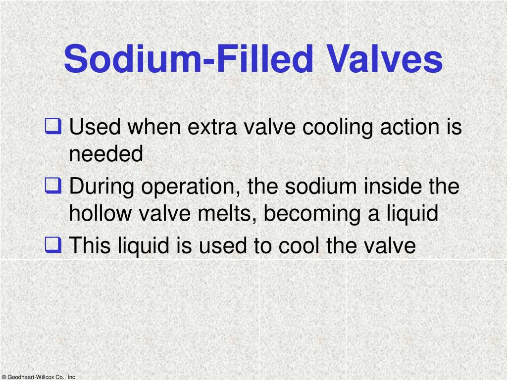 Sodium-Filled Valves