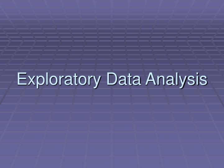 exploratory data analysis n.