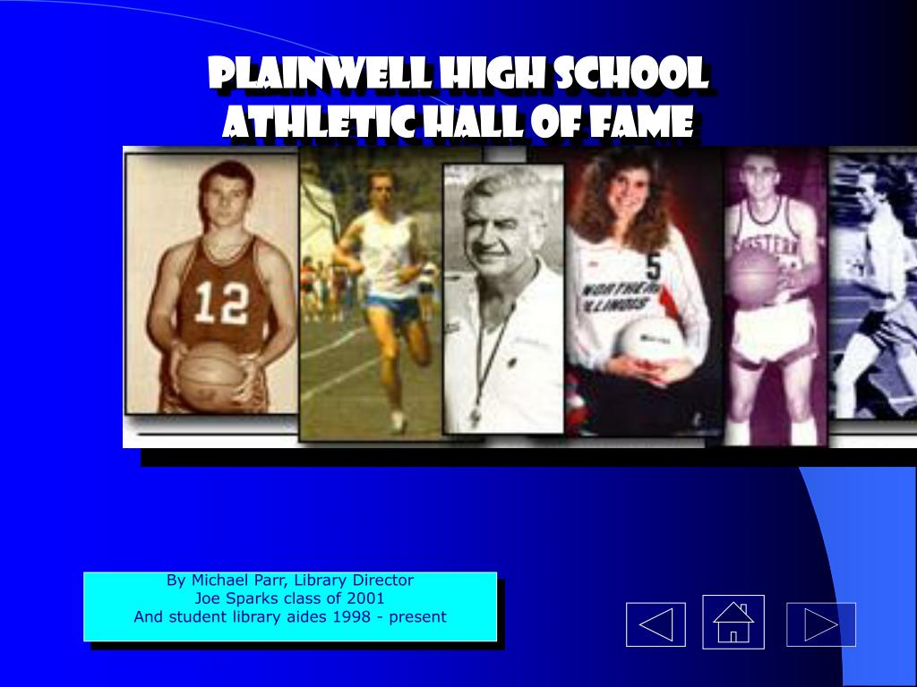 plainwell high school athletic hall of fame l.