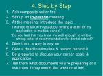 4 step by step