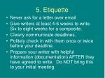 5 etiquette