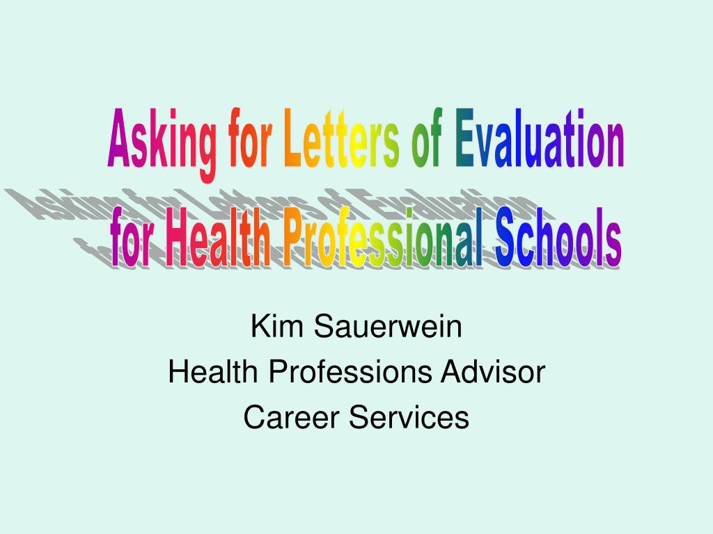 kim sauerwein health professions advisor career services l.