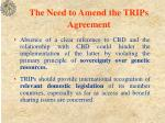 the need to amend the trips agreement