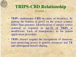 trips cbd relationship contd