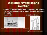 industrial revolution and invention