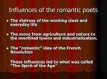 influences of the romantic poets