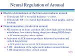 neural regulation of arousal