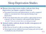 sleep deprivation studies