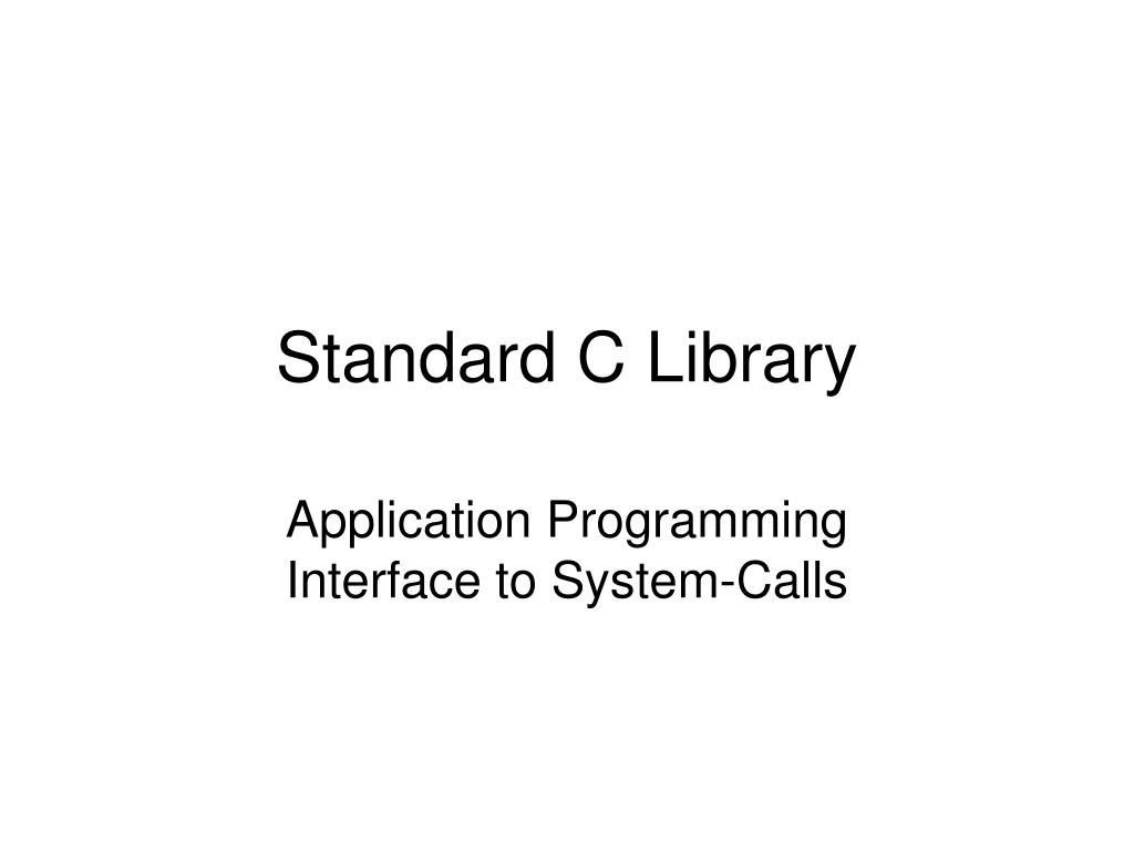 standard c library l.