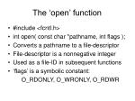 the open function