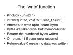 the write function