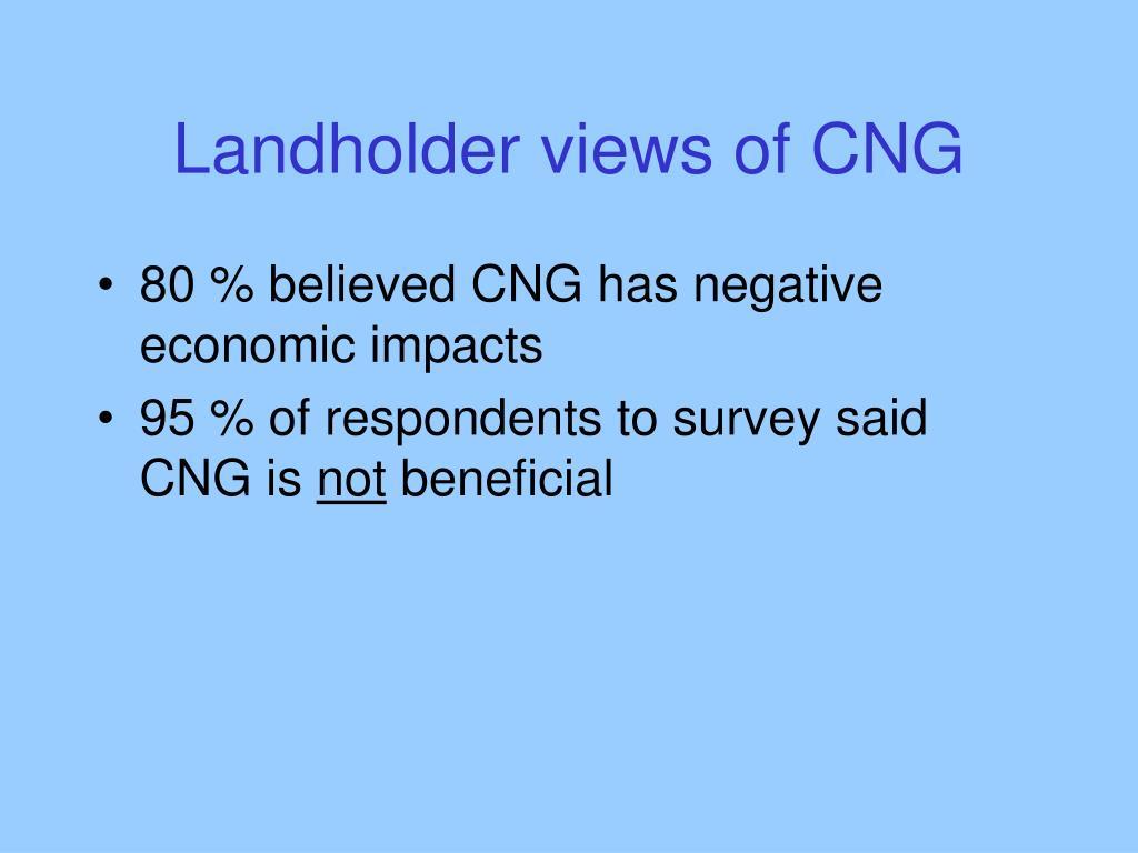Landholder views of CNG