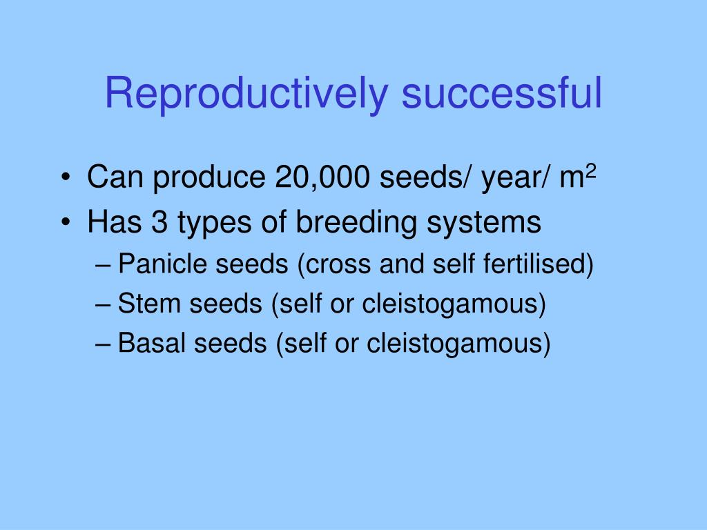 Reproductively successful