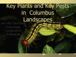 key plants and key pests in columbus landscapes