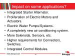 impact on some applications