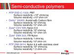 semi conductive polymers