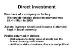 direct investment