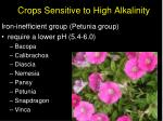 crops sensitive to high alkalinity