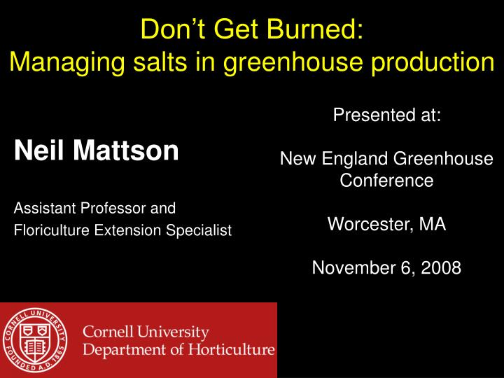 don t get burned managing salts in greenhouse production n.