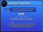 synthetic aperture