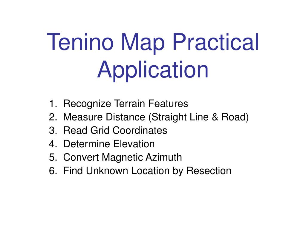 tenino map practical application l.