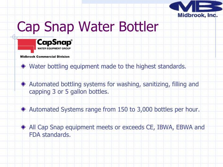 Cap Snap Water Bottler