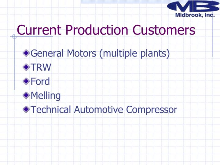 Current Production Customers