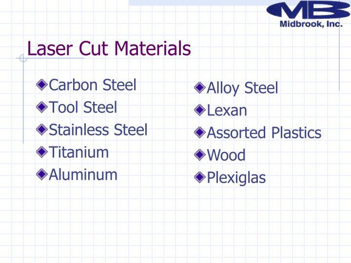 Laser Cut Materials
