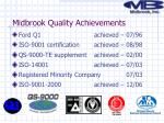 midbrook quality achievements