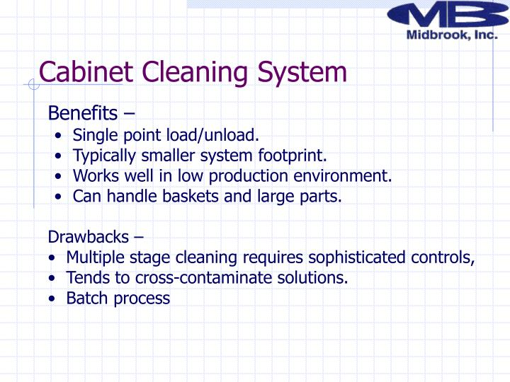 Cabinet Cleaning System